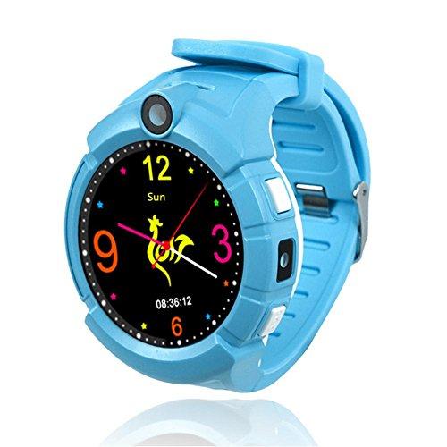 feiledi Trade Kinder GPS Smart Watch, Kinder, die Smartwatch 3,6cm Tracker Touch Bildschirm Unterstützung SOS Call Activity Tracker mit Sim Anrufe für Android iOS für Jungen Mädchen