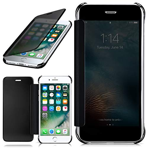 moex Apple iPhone 7/8 | Hülle Transparent TPU Void Cover Dünne Schutzhülle Anthrazit Handyhülle für iPhone 7/8 Case Ultra-Slim Handy-Tasche mit Sicht-Fenster