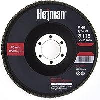 HETMAN Dischi Lamellari 115 mm Confezione Da 10 Pezzi