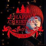 Noël Stickers Muraux,LUCKYCAT Amovibles Mur De Fenêtres 2018 En Vinyle De La Autocollants Maison DéCoration Autocollant mural amovible en vinyle Autocollants joyeux Noël pour autocollant de Noël