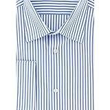 Cotton Park - Chemise classique rayures bleu poignets mousquetaires - Homme
