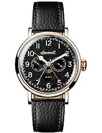 Ingersoll Men's The St Johns Quartz Watch withSchwarz Dial andSchwarz Leather Strap I01602