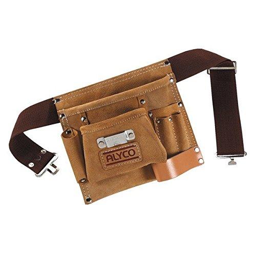 Alyco 196894 - Bolsa de cuero multibolsillos con cinturon