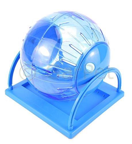 Hamsterball Ständer Joggingball Laufball Laufkugel Laufrad Hamster Ball Kugel (Groß, blau)