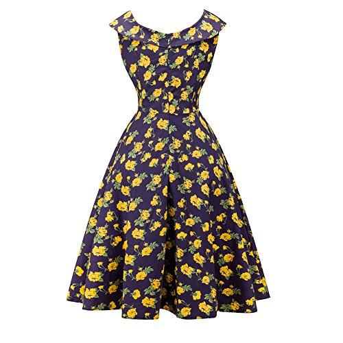 Etosell Femmes Vintage Sans Manches Robe F2