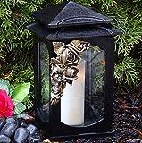 Tomba lampada con ornamento vetro incl.Tomba candela & # x2665; Tomba gioiello a forma di cuore rose Grab lampada da Cimitero Tomba luce