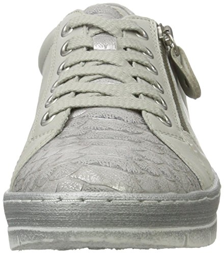 Remonte D5800, Sneakers Basses Femme Blanc (Shark/offwhite/silver/80)