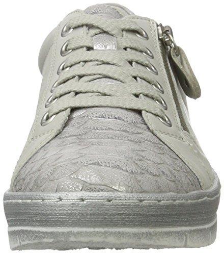 Remonte Damen D5800 Sneakers Weiß (shark/offwhite/silver/80)
