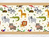 I-love-Wandtattoo b-10178 Kinderzimmer Bordüre Bunte Safari Tiere Junge Mädchen Wanddeko Wandaufkleber Wandsticker Wandtattoo