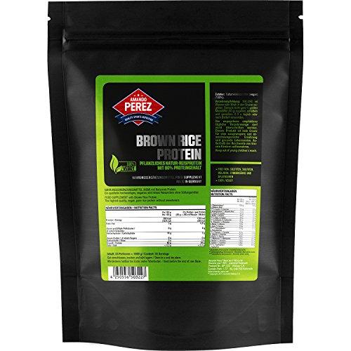 Pflanzliches Natur - Reisprotein (geschmacksneutral) - 1000 g 1 kg - 80% Proteingehalt mit Meßlöffel & verschließbarer Tüte