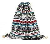 iSuperb Sacca Coulisse in Tela Sacche Sportive Sacca da Ginnastica Sacche Scarpe da Viaggio Drawstring Bag per Donna e Ragazza 34 X 41 cm (Boemia)