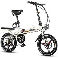 Paseo Bicicleta Plegable Bicicleta Unisex 16 Pulgadas 20 Pulgadas Cambio Frenos Deportes Bicicleta portátil (Color