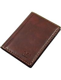 Elegante tarjetero para tarjeta de crédito y tarjeta de visita en varios colores y diseños ( Diseño 1 / Marrón)