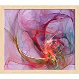 ArtzFolio Digital Fractal 2 Canvas Painting Natural Brown Frame 11.5 x 10inch