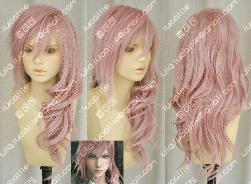 Cosplay wig FF13 Final Fantasy XIII (FINAL FANTASY XIII) Lightning wind costume (japan ()