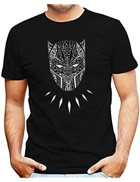 TeeTrumpet Black Panther Mandala Tribal Mask Men'S T-Shirt