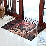 Türmatte Bodenmatte - Polyester/PVC-Gummisohle, verschleißfestes Anti-Rutsch-Material, selbstschneidend, rechteckige Schiebetür für Hausschiebetüren - 3 Farben, 2 Größen verfügbar