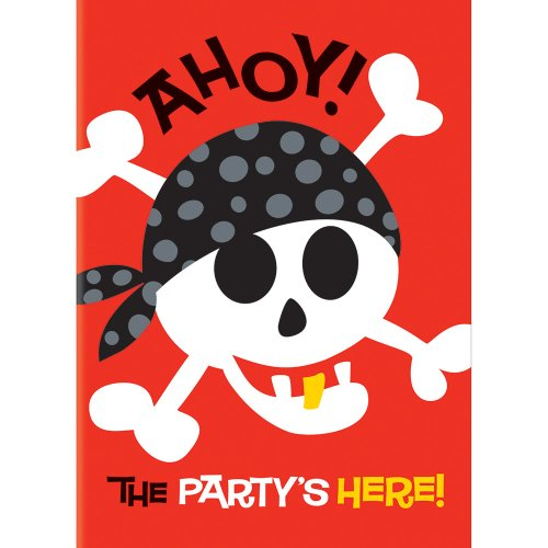 Unique Party Supplies Pirat Fun Bday FL Bnr 12ft-lf (Karten Lustige Geburtstag Pack)