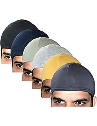 Elk Men's & Women's Cotton Helmet Cap (Pack Of 6_Multicolor)