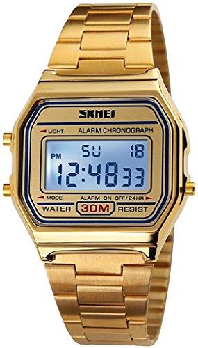 tarshow classico orologio digitale in acciaio inox oro per le donne
