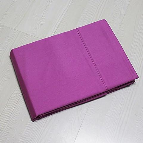 Semplici fogli a righe solido-colorato/Lenzuola matrimoniale cotone singolo-H 180x240cm(71x94inch)