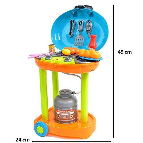 ☀ Elektrischer Spielzeug Grill Gasgrill Mini Kindergrill mit Licht und Sound ☀ - 4