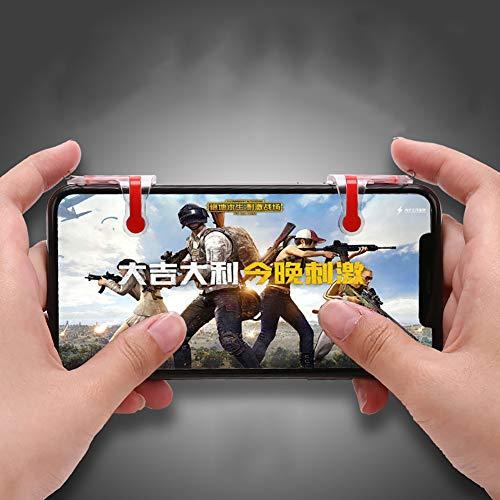 LbojailiAi Spiele für Shooter Controller Gaming Trigger Fire Button Handle für PUBG MN sinistra + destra