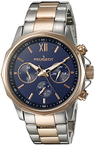 peugeot-herren-armbanduhr-edelstahl-und-rose-gold-kalender