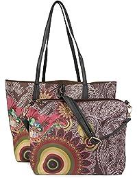 styleBREAKER Handtaschen Set mit Ethno, Blumen und Paisley Muster, Shopper und Umhängetasche, Tasche, Damen 02012043