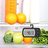 Oria Digital Kühlschrank Thermometer Wasserdicht Gefrierschrank thermometer mit Haken Leicht zu LCD-Display lesen, Max/Min Funktion Perfekt für Wohnhaus, Restaurants, Cafes, Eisschrank, Kühl, etc. - 6