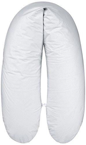 ARO Artländer 88163 Premium Stillkissen mit Perlenfüllung und Bezug, Länge 178 cm, grau