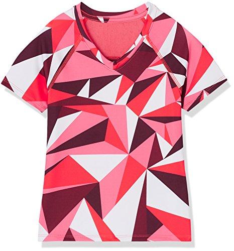 RED WAGON Mädchen Sport Top mit Geometrischem Muster, Red (Red Abstract Print), 104 (Herstellergröße: 4 Jahre) Sport-bekleidung Für Kinder