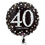 amscan 3213001Folie zum 40. Geburtstag Luftballons