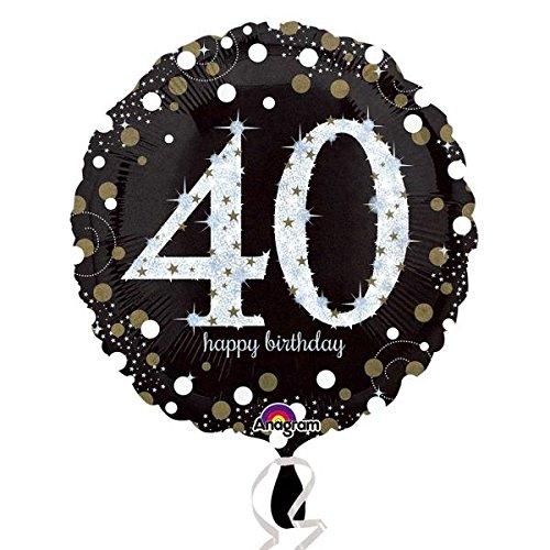 (Amscan 3213001Folie Zum 40. Geburtstag Luftballons)