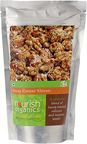 Nourish Organics Honey Roasted Walnuts, 100g