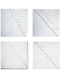 Kundan Sulz Gwalior Men's Executive Pure Cotton White Base Print Shirt Fabric ( 4 Shirt Piece for Men )