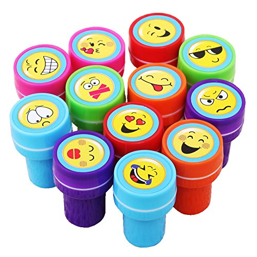 kumeed-plastic-stamps-teaching-tool-stampers-emoticon-12pcs