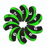 Debonice Golf Club Head Covers Wasserdicht Neopren Golf Eisen, mit Nummer-Tag 10/Set, Grün