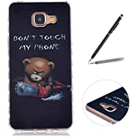 "Trumpshop Smartphone Case Coque Housse Etui de Protection pour Samsung Galaxy A3 (2016,A310,4.7"") + Don't Touch My Phone Ourson + Flexible Ultra Mince Silicone TPU [Non compatible avec A3 (A300,4.5"")]"