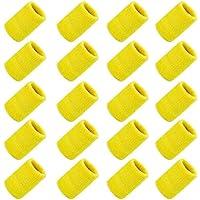 ZWOOS 20 Stück Schweißbänder, Unisex Schweißband für Fußball Basketball,Tennis, Turnhalle