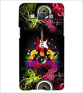 PrintDhaba Guitar D-4617 Back Case Cover for SAMSUNG GALAXY E5 (Multi-Coloured)