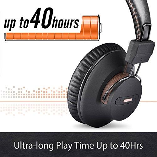 2018 Avantree HT4189 Kabellose Kopfhörer für Fernseher mit Bluetooth Transmitter, Unterstützt Optisch, RCA, 3.5mm AUX, PC USB Audio, Plug & Play, No Delay, 30m HOHE REICHWEITE 40 Std. Akku - 6