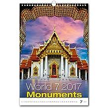 C130-17Kalpa Calendario da Muro 2017mondo Monumenti calendari da parete esclusiva collezione 32x