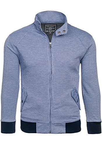 BOLF – Sweat-shirt – Fermeture éclair – DAVID COPPER 8003B – Homme Bleu foncé