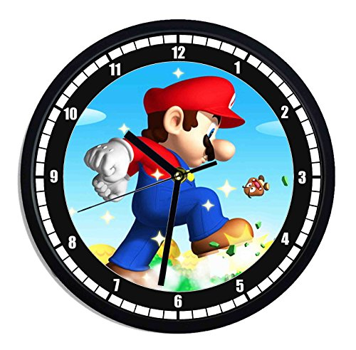 (Wanduhr aus Kunststoff Super Mario Bros)