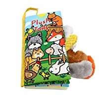 Xiluck Cloth Books For Kids,Soft Cloth Books,Safe Baby Early Education Animal Learning Soft Cloth Books Brain Development Children Education Books Toddlers Cloth Book (Yellow)