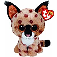 TY 36190 - Beanie Boos Buckwheat Regular, peluche lince, 15 cm (United Labels