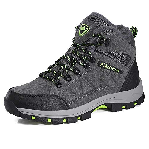 FOGOIN Wanderschuhe Herren Damen Wasserdicht Trekking Boots Winter Warm Gefüttert Outdoor Hiking Winterschuhe 35-45