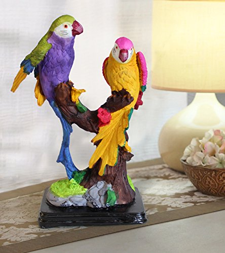 TIED RIBBONS Couple Parrot Outdoor Decoration Showpiece Statue Figurines Collectibles Items for Living Room Drawing Room Bed Room Garden Outdoor Decoration Items