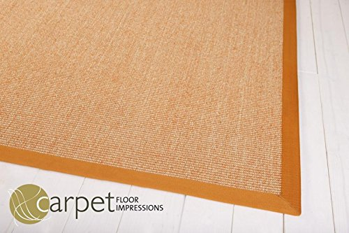 Sisal Küchen Teppich Mexico (055061 orange Bodüre orange,(2) 80X160 cm)